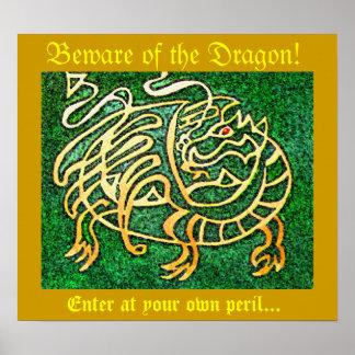 Beware of the Dragon Print