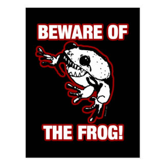 BEWARE OF THE FROG POST CARDS