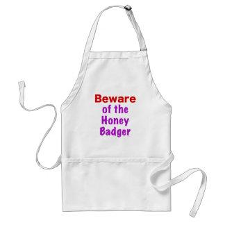 Beware of the Honey Badger Adult Apron