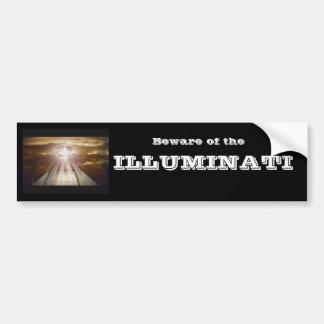 Beware of the ILLUMINATI Car Bumper Sticker