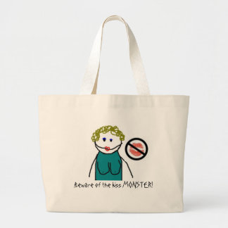 Beware of the kiss MONSTER! Canvas Bags