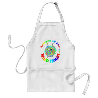 Beware of the Knit Ninja Adult Apron