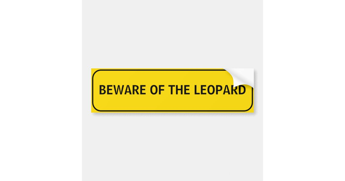 Beware Of The Leopard Gecko Tall