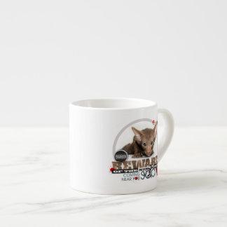 Beware of the Ninja Cat Espresso Cup
