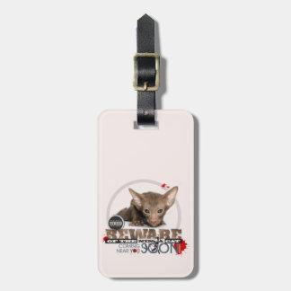 Beware of the Ninja Cat Luggage Tags