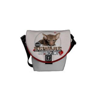 Beware of the Ninja Cat Messenger Bags