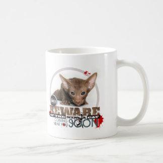 Beware of the Ninja Cat Coffee Mug