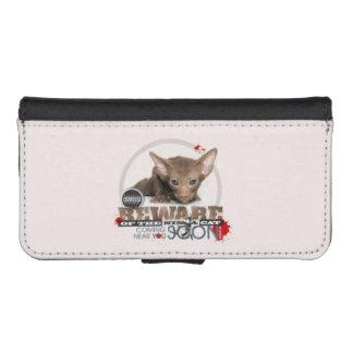 Beware of the Ninja Cat iPhone 5 Wallet Cases
