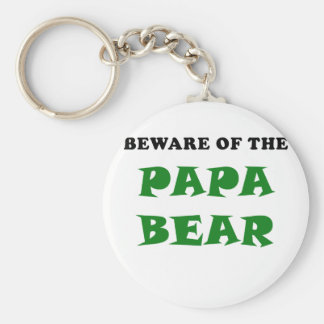 Beware of the Papa Bear Keychain