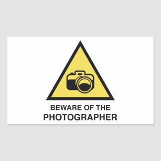 Beware Of The Photographer Rectangle Sticker