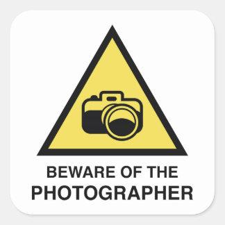 Beware Of The Photographer Square Sticker