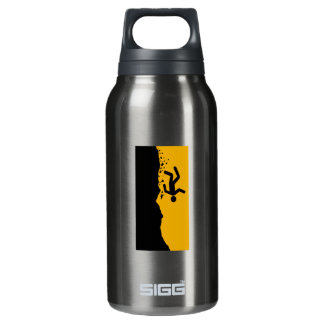 Beware of the Ravine, Sign, California, US 10 Oz Insulated SIGG Thermos Water Bottle
