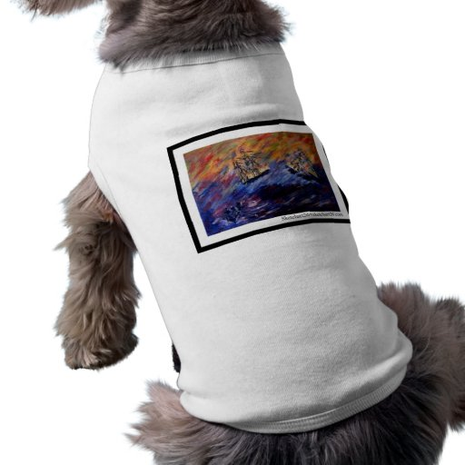 Beware of the seventh wave doggie tee shirt