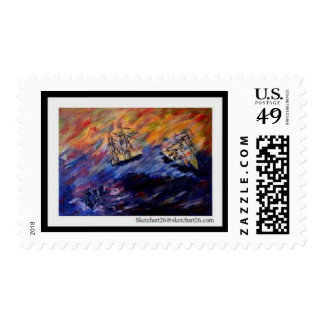 Beware of the seventh wave postage stamps