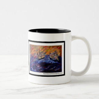 Beware of the seventh wave Two-Tone coffee mug