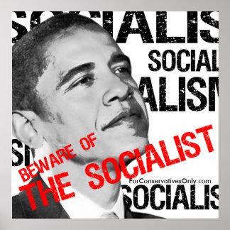 """Beware of the Socialist"" Print"