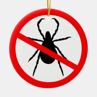 Beware of Ticks Ceramic Ornament