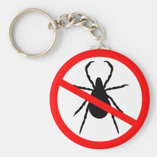 Beware of Ticks Keychain