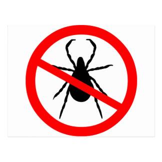 Beware of Ticks Postcard
