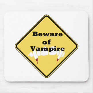 Beware of Vampire Mouse Pad