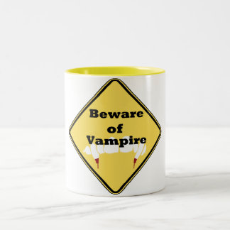 Beware of Vampire Two-Tone Coffee Mug