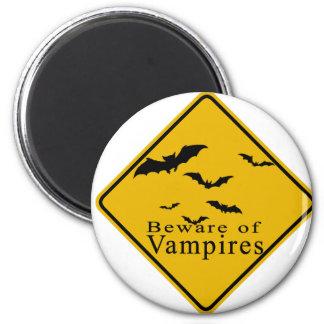 Beware of  Vampires 2 Inch Round Magnet