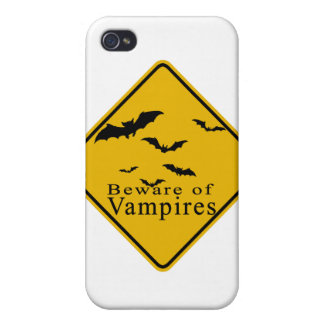 Beware of  Vampires Covers For iPhone 4