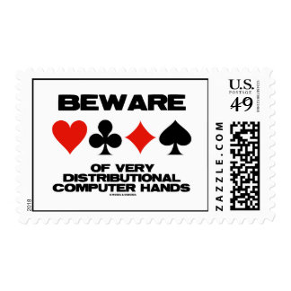 Beware Of Very Distributional Computer Hands Postage Stamp