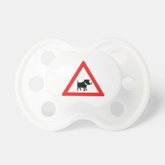 Beware of Warthogs, Traffic Sign, South Africa BooginHead Pacifier