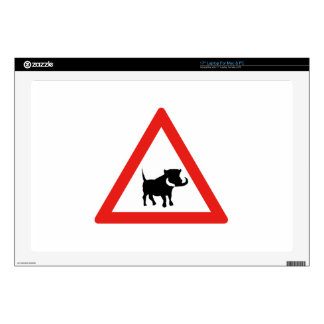 Beware of Warthogs, Traffic Sign, South Africa Skin For Laptop