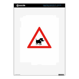 Beware of Warthogs, Traffic Sign, South Africa Decals For iPad 3