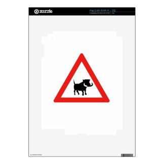 Beware of Warthogs, Traffic Sign, South Africa Decals For iPad 2