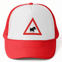 Beware of Warthogs, Traffic Sign, South Africa Trucker Hat