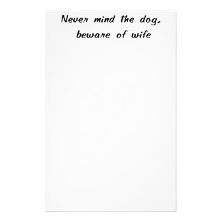 Beware Of Wife Stationery