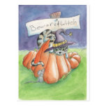 Beware Of Witch Cat Postcard