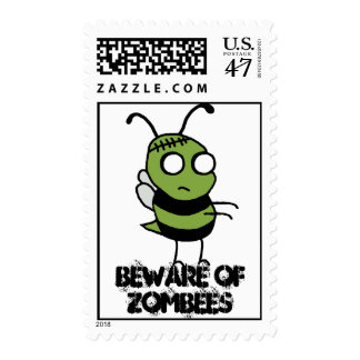 Beware of Zombees US Postage Stamps