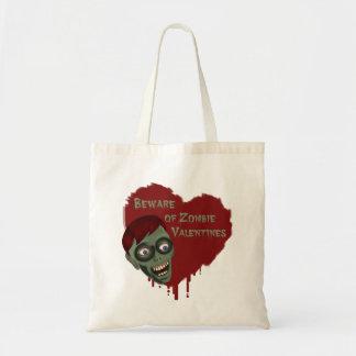 Beware of Zombie Valentines Tote Bag
