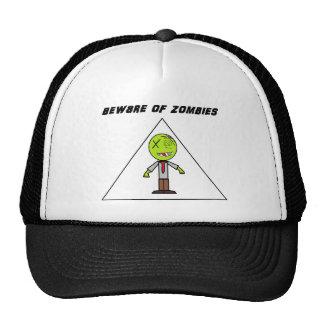 beware of zombies trucker hat