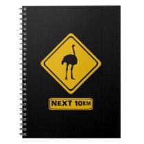beware ostriches notebook