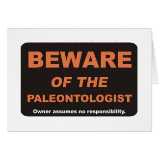 Beware / Paleontologist Card
