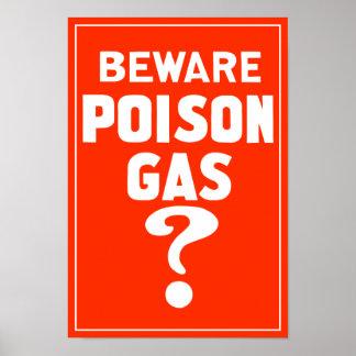 Beware Poison Gas? - WW1 Poster