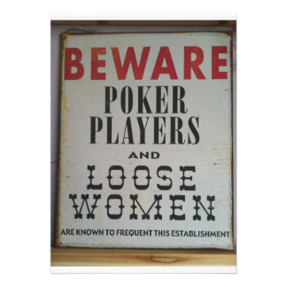 BEWARE Poker Players, It's Poker Time Invitation