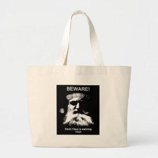 Beware--Santa is watching you! Jumbo Tote Bag