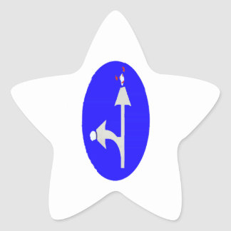 Beware Sharp Turns Star Sticker