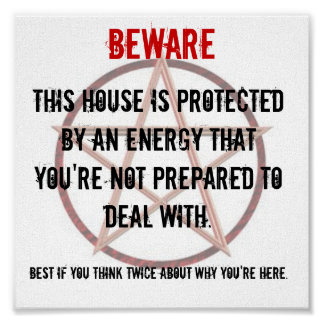 BEWARE Sign For Property Owners