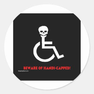 Beware Round Stickers
