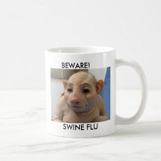 BEWARE!, SWINE FLU COFFEE MUG