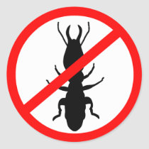 Beware Termites Classic Round Sticker