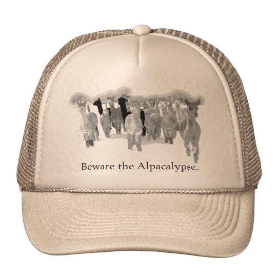 Beware the Alpacalypse - Funny Joke Pun Humor Trucker Hat