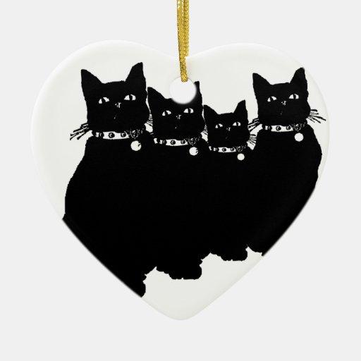 Beware the Black Cat Christmas Tree Ornament